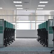 cubicles in office